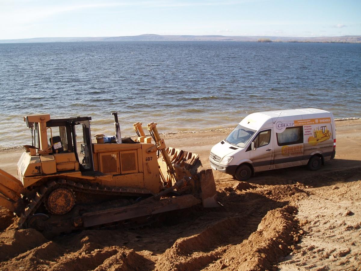 техническое обслуживание бульдозеров HBXG проводится по всей территории Российской федерации (берег Волги)
